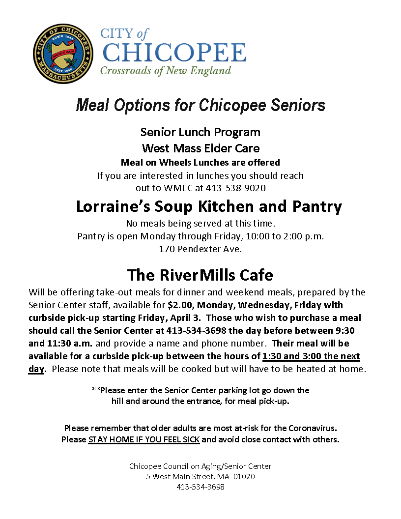 Meal Options for Seniors COVID-19